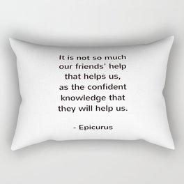 Epicurus - words of wisdom on friendship Rectangular Pillow