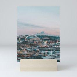 Seattle & Mount Rainier Mini Art Print