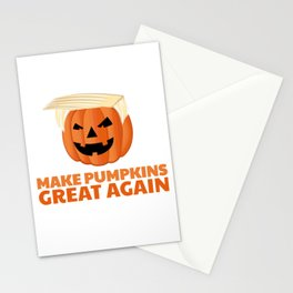 Trumpkin Make Pumpkins Great Again Stationery Cards