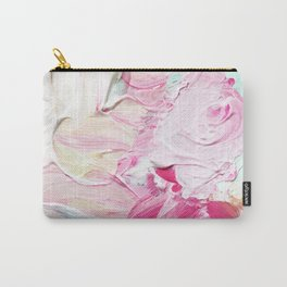 Minty Rose (Abstract Painting) Carry-All Pouch