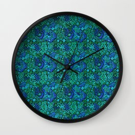 The Shape of Water Colour Scheme Tribute Pattern Wall Clock