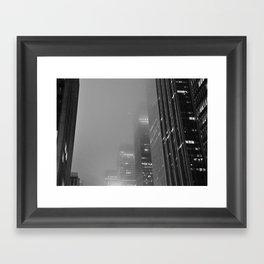 City in the Fog Framed Art Print