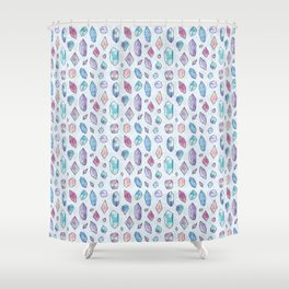 Healing Crystals Shower Curtain