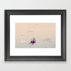 The Boy Who Carried the Big Bad Wolf Framed Art Print