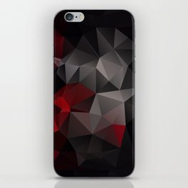 Polygon red black triangles . iPhone Skin