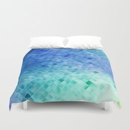 Blue Mosaic Pattern Duvet Cover