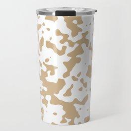 Spots - White and Tan Brown Travel Mug