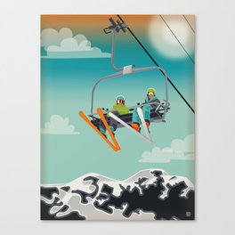 Ski Lift Canvas Print