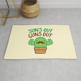 Sun's Out Guns Out Macho Cactus Rug