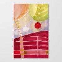 lanterns Canvas Prints featuring lanterns by Angella Meanix