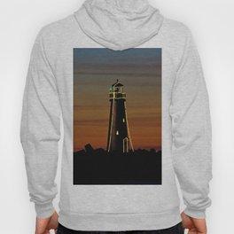 Sunset at Walton Lighthouse Santa Cruz CA Hoody