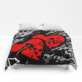 Hearts pierced with an arrow Comforters
