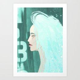 Seafoam Girl Art Print