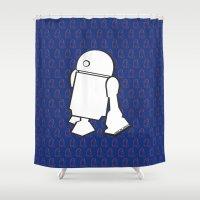 starwars Shower Curtains featuring STARWARS R2D2 by Imog3n
