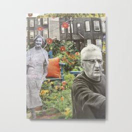 Retirement Plan, Print from original collage Metal Print