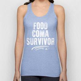 Food Coma Survivor Unisex Tank Top