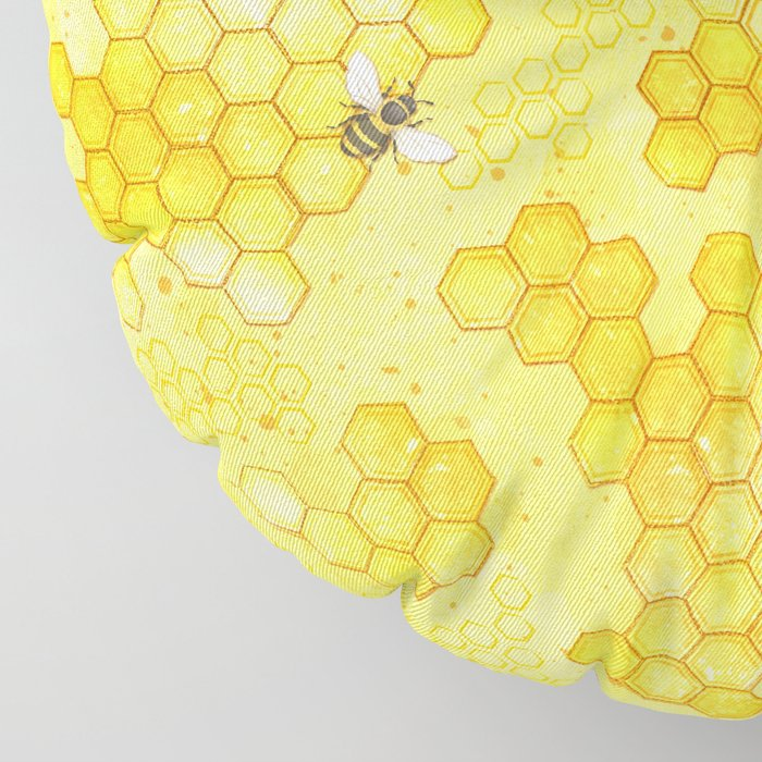 Meant to Bee - Honey Bees Pattern Floor Pillow