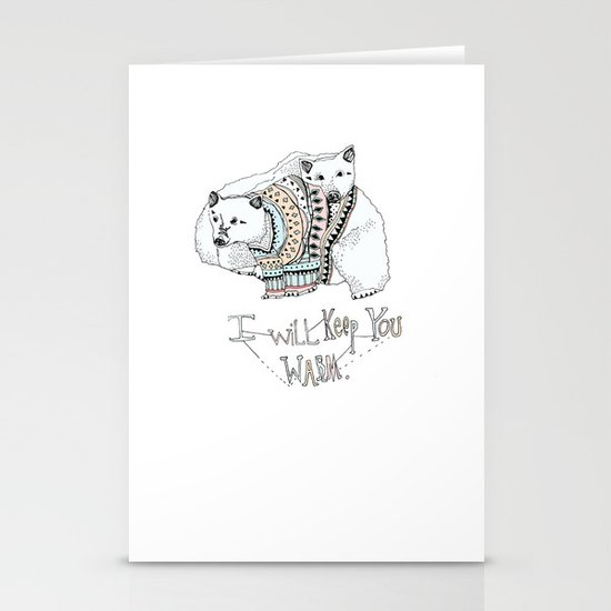 i will keep you warm Stationery Cards