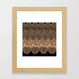 lace border with floral and geo mix Framed Art Print