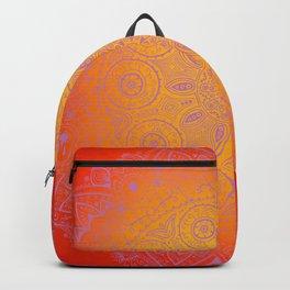Sunshine Mandala Purple Backpack