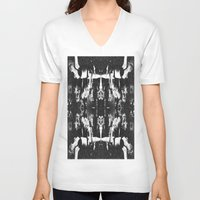 occult V-neck T-shirts featuring VINTAGE OCCULT by Kathead Tarot/David Rivera