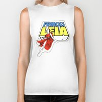princess leia Biker Tanks featuring Princess Leia by Popp Art
