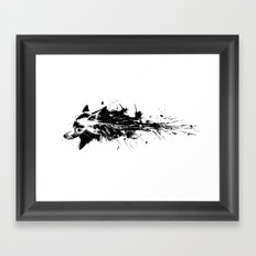 Black wolf Framed Art Print