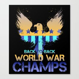 World War Champs #1 Canvas Print