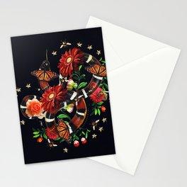 Snake Flowers Stationery Cards