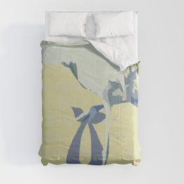 Baby Mine - cornflower blue/canary yellow Comforters