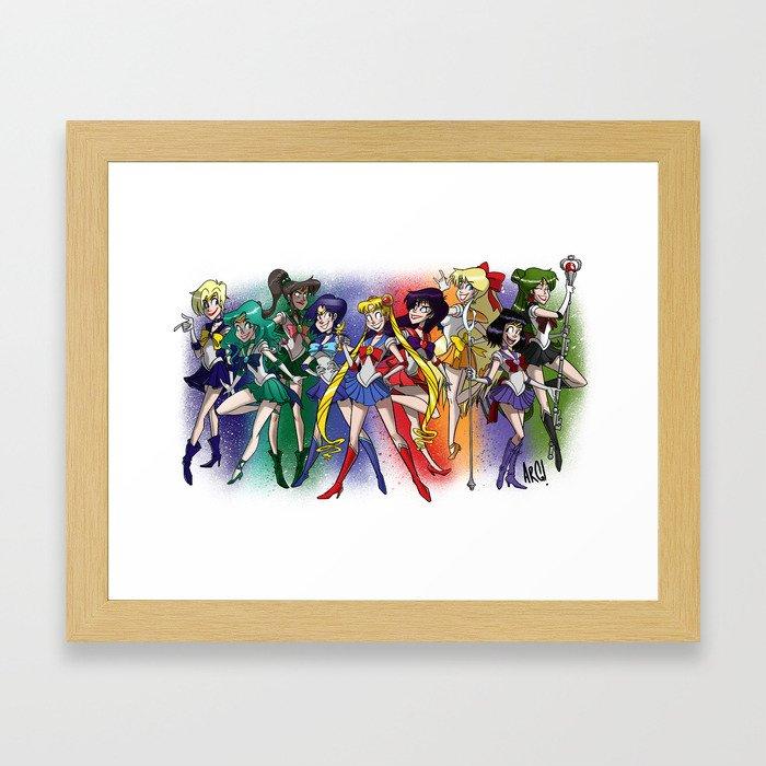 Sailor Scouts! Framed Art Print