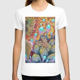 The Egg Maiden, Bearded Dragon Lizard Art T-shirt