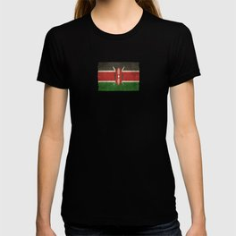 Old and Worn Distressed Vintage Flag of Kenya T-shirt