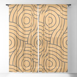 Circle Swirl Pattern Golden Orange, Inspired By Bright Marigold, Spring Squash, Pure Joy, Just Ducky Sheer Curtain