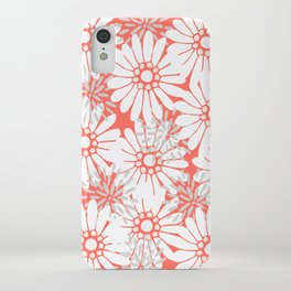 Summer Flowers Living Coral iPhone Case