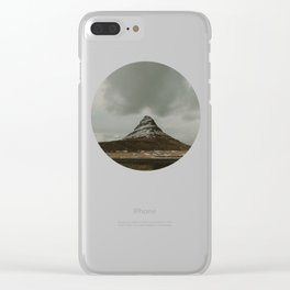 Iceland Kirkjufell Mountain Clear iPhone Case