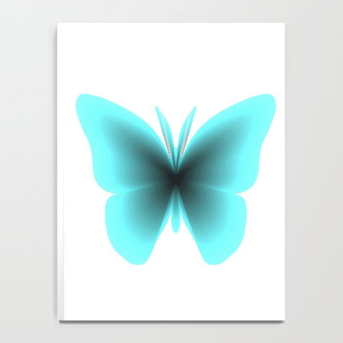 Pretty Wings of Aqua Butterfly Notebook