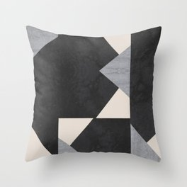 Abstract geometric puzzle Throw Pillow