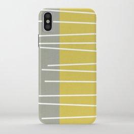 MId century modern textured stripes iPhone Case
