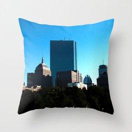 Boston at Sunset Throw Pillow