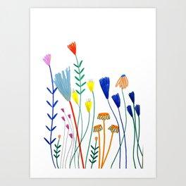 Flowers. Art Print