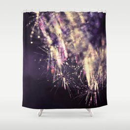 dandelion purple III Shower Curtain