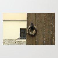 door Area & Throw Rugs featuring door by Asya Bagdasaryan