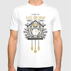 Time to Rise and Shine Mens Fitted Tee White MEDIUM