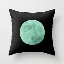 TEAL MOON // BLACK SKY Throw Pillow