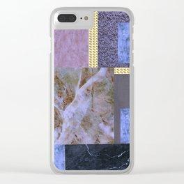 purple comfort Clear iPhone Case