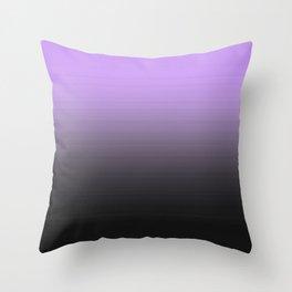 Lavender Gray Ombre Throw Pillow