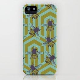 Art Deco Bees iPhone Case