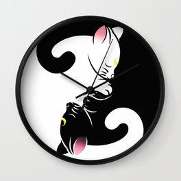 Luna & Artemis Wall Clock