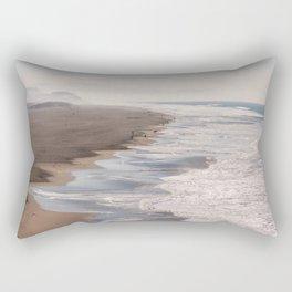 Ocean Beach, San Francisco Photography, From Above Art, Surfers, Pacific Ocean, California Art Rectangular Pillow
